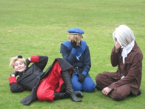 Charlotte as Denmark, being fabulous Jess as Norway and our friend Stephen as Iceland! :D