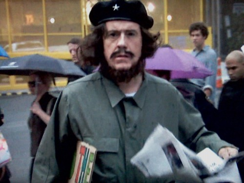 inothernews:  Stephen Colbert tries to blend in at Occupy Wall Street.