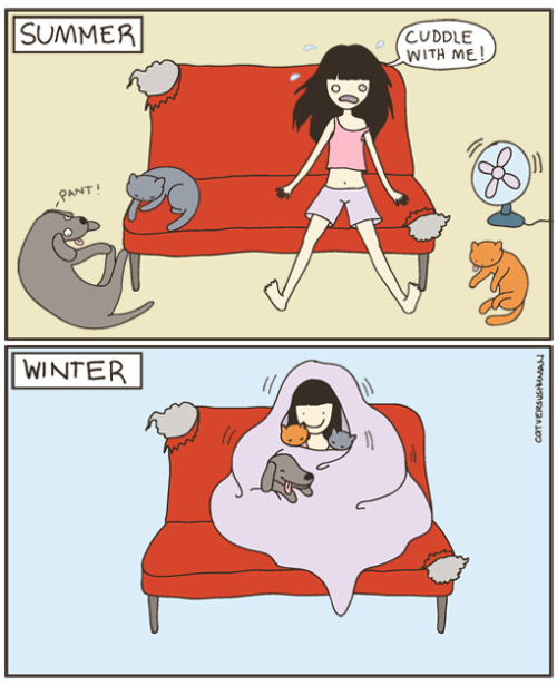 catversushuman: One of the few things I like about Fall-Winter :P