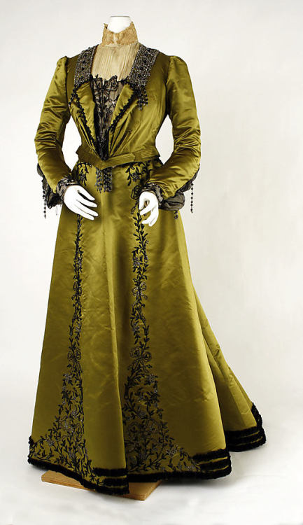 omgthatdress:  Dress 1900-1901 The Metropolitan Museum of Art  There's no context for this dress except that I believe I would have looked absolutely perfect in it.  I would have done well in late-19th-century clothing, I think.