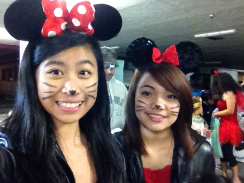 Happy Halloween!  Me and smileatrose dressed as Miney Mouse :D