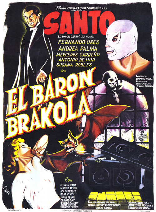 monstercrazy:  El Baron Brakola (1967) Wrong Side of the Art    Brakola, Dracula's mexican cousin