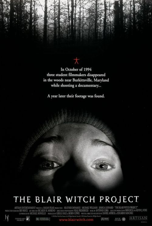Month Of Horror: 25. The Blair Witch Project, 1999 Long long looooong ago, I started watching this movie and it bored the shit out of me, and now that I forced myself to re-watch it, it still bored me a loooot. Maybe I'm all Dwight Schrute or Bear Grillis or shit, but I have always thought if I was in that situation I coulda get the hell out of there the first day, second day tops. I hate camping so I would be pretty quick in trying to get back to the city. On that note, the setting is great, and I like the fact that the dudes where not famous at the time of it's release. It wasn't the first POV found footage/documentary style movie, but it was the one that put the sub-genre on the mainstream. If you don't get dizzy to easily, enjoy home made videos and people screaming in the woods, give it a watch.  P.S. The three actors believed the Blair Witch was a real legend during filming, though of course they knew the film was going to be fake. Only after the film's release did they discover that the entire mythology was made up by the film's creators.