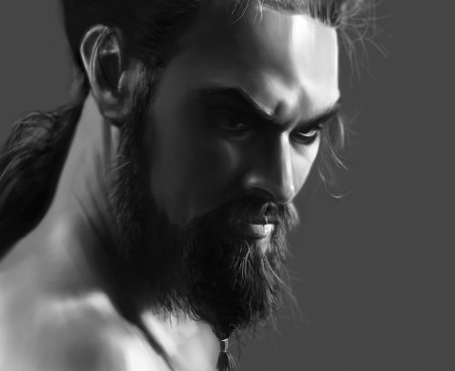 teacuphumans: Khal Drogo by ~vladgheneli