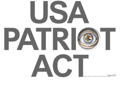 "Shocking Parallels Between The US Patriot Act & the Nazi Enabling Act ….""Consider the following two statements, and see if you can identify the authors. Statement Number One: ""The people can always be brought to the bidding  of the leaders. That is easy. All you have to do is tell them they are  being attacked and denounce the pacifists for lack of patriotism and  exposing the country to danger. It works the same way in any  country.""…. …Statement Number Two: ""To those who scare peace-loving people with  phantoms of lost liberty, my message is this: Your tactics only aid  terrorists, for they erode our national unity and diminish our  resolve.""… …The first statement is a quote from Hitler's right hand man,  Hermann Goering, explaining at his war crimes trial how easily he and  his fellow Nazis hijacked Germany's democratic government. The second  statement is a quote from Bush's right hand man, John Ashcroft,  defending the Patriot Act and explaining why dissent will no longer be  tolerated in the age of terrorism. If that doesn't send chills down your  spine, nothing will…. ….And what, pray tell, are we fighting for? Well, according to  the White House, we're fighting for freedom. Yet freedom is exactly what  the White House is demanding that we now SURRENDER in the name of  fighting terrorism.""…. Many who think that this post is an over reaction need only check history. Time and time again it has been shown that governments and corruption are synonymous.  This especially includes our democratic(?) ones. Democracies can only  work when the people put their trust into authority. The more democratic  the society becomes the more likely it will be abused by  governments/authority as it becomes progressively easier to betray  citizen trust….It will come as a surprise to most that Hitler's Germany and Stalinist Russia started from one of the most democratic governments of all before their day! -New Media Explorer"