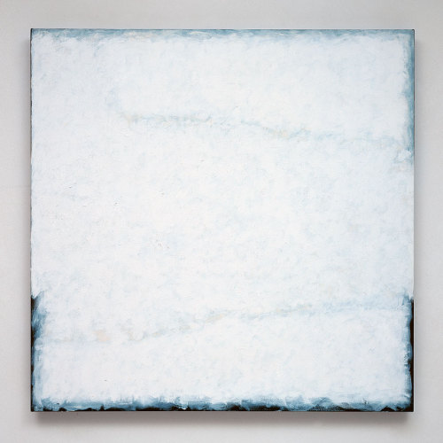 "Robert Ryman, Series no. 13 (White). 2004.   ""It's similar to the meaning of listening to a symphony. you don't know the meaning, and you can't explain it to anyone else who didn't hear it. the painting has to be seen. but there is no meaning outside of what it is."" - Robert Ryman"