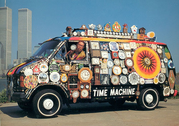 Step into the Smarter Planet Time Machine! For a little Friday Fun, try one of these three settings: …One Week Ago …One Month Ago …One Year Ago Or to really get your smarter groove on, try the Random button to sample one of the more than 3600 posts about All Things Smarter since we went back to the future in Nov. 2008. You are welcome to like or reblog your favorites to feed our collective intelligence on those posts that best reflect how the world's systems can become more sentient and sensable. Of course, you can always browse through the misty mountains of Smarter Time via the Archive. Want to hold Smarter Planet in your hand? Get the mobile apps for iOS and Android. laughingsquid:  30 Hoop Art Cars of Extreme Awesomeness