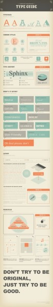 All you ever need to know about successful typography, beautifully designed in this infographic by Noodlor. I especially love the quote at the end, attributed to design master Paul Rand.