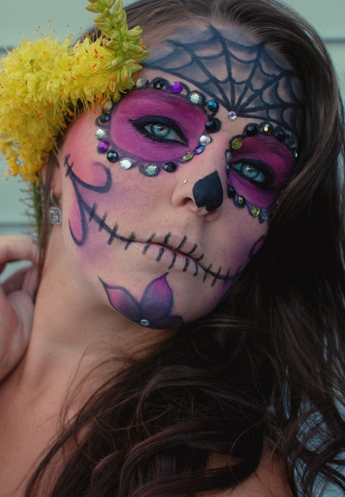 makeupftw:  Glam sugar skull look