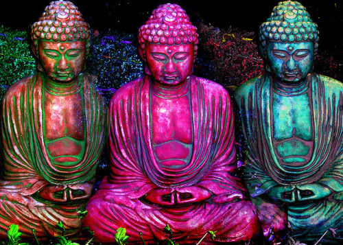 Three Buddhas (2) by John Suler's PhotoPsychology on Flickr.