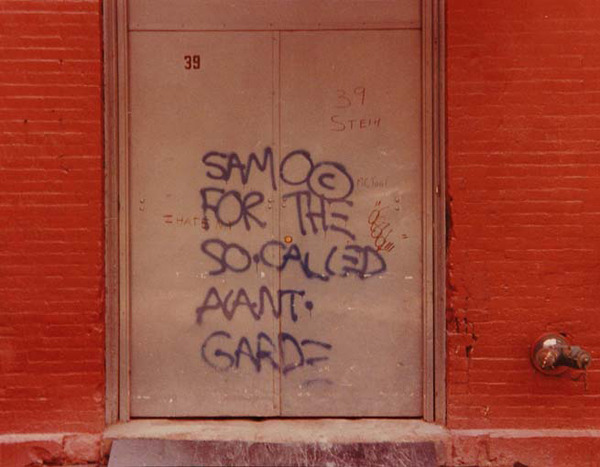 flavorpill:  Vintage Shots of Jean-Michel Basquiat's SAMO© Graffiti  Get that Bowery blood boiling.
