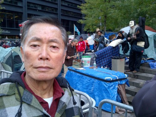 "occupywallstreet:   ""The struggle is not only social, economic and political—it is STRUCTURAL. No matter what side you are on, it is worth listening to what they have to say.""  - George Takei after visiting occupy wall street."
