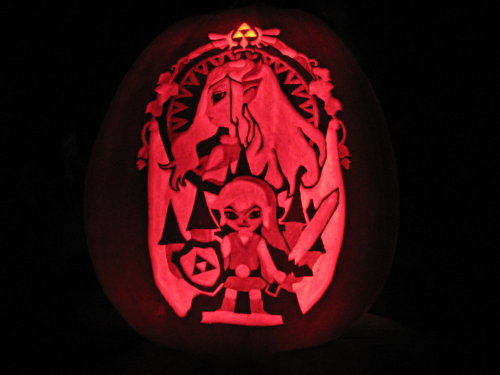 Zelda Pumpkin at Night by ~Elitelink