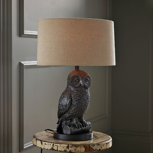 Whooo? west elm owl table lamp