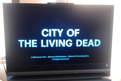 Halloween Hype 2011, Pt. XIX City of the Living Dead [1980 / Lucio Fulci / ***½] A bit of a let down compared to the high standards of other great Fulci films I've seen and loved, but still a fun time.
