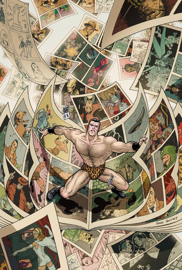 The Vertigo Graphic Content revealed the cover to the Flex Mentallo Deluxe Edition. It is by Frank Quitely, so it is awesome.