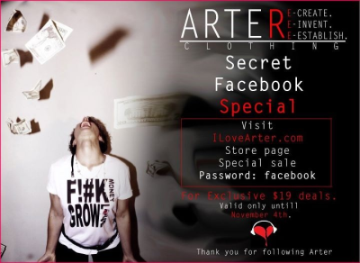 Check out the FB page!! Www.facebook.com/IloveArter And the site!! Www.ilovearter.com