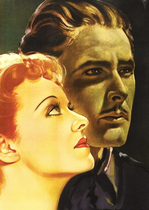 errolivio:  Errol Flynn & Bette Davis poster for the 1938 movie 'The Sisters'
