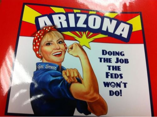 This is the back cover of Arizona Gov. Jan Brewer's new book, Scorpions for Breakfast. (via @Elise_Foley)