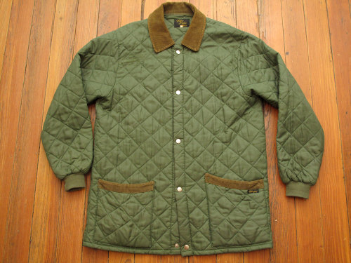 new in the shop: mens vintage quilted jacket.