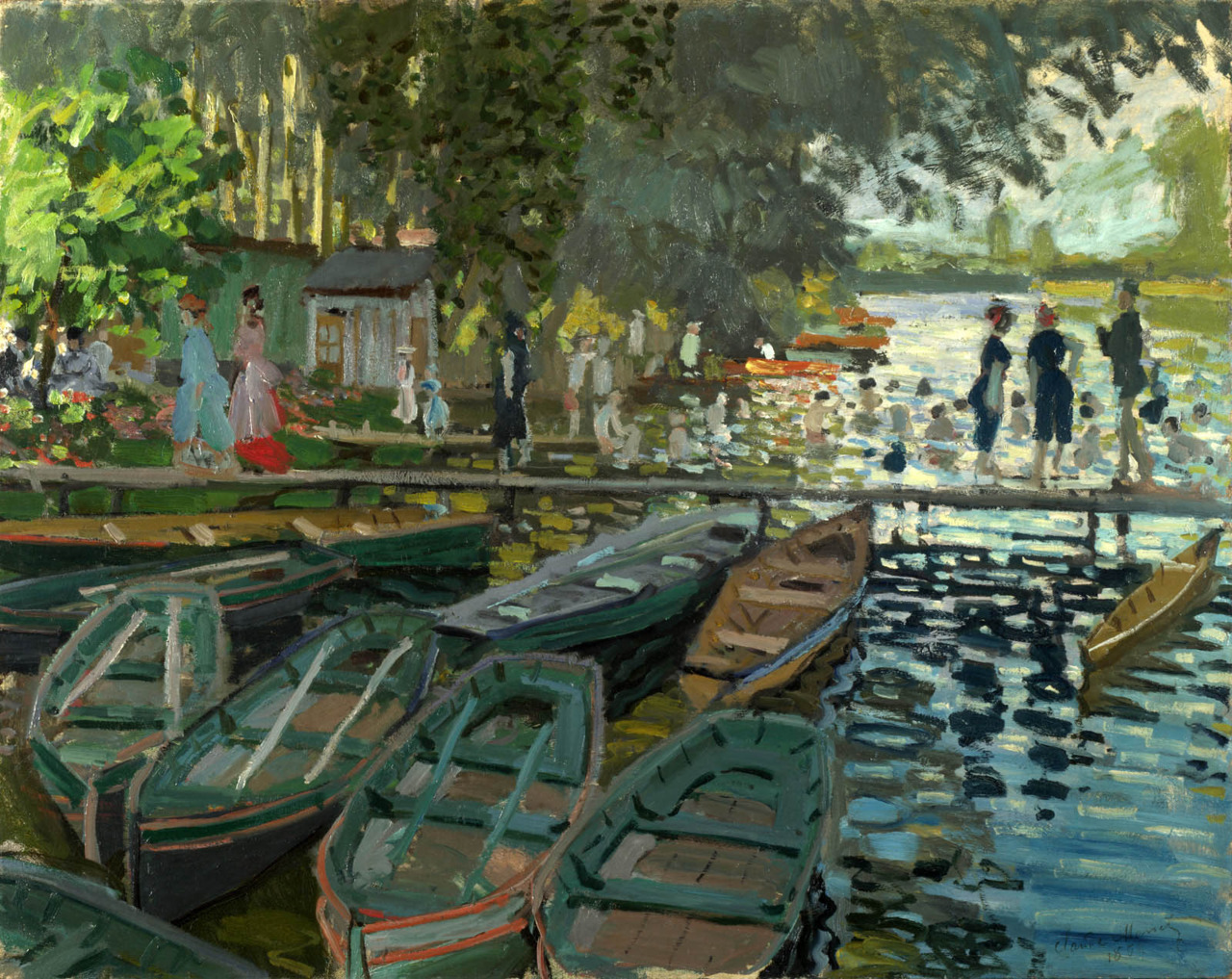 peira:  Claude Monet:  Bathers at La Grenouillere (1869)