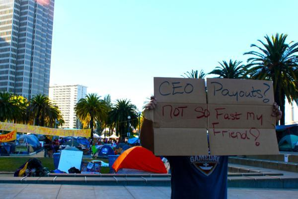 Bonus ZuccottiBraid to @conrizzle26. Check out all his Occupy San Francisco pics, but our favorite is: CEO Payouts? Not so fast my friend!