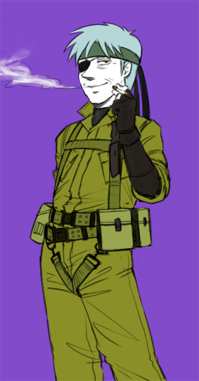 Last one, which is Akagi dressed as Big Boss!