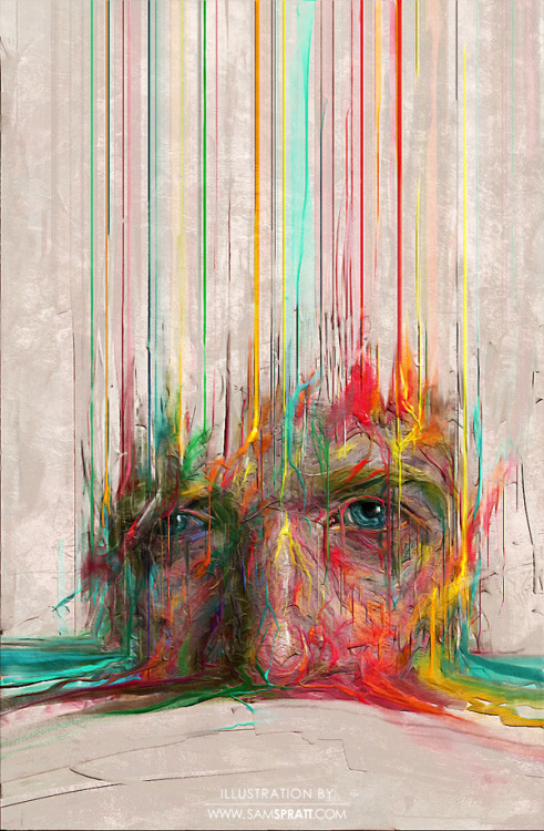 """Digital 0.1"" - Portrait painting by Sam Spratt An experiment of sorts. Follow my: portfolio website,  tumblr,  facebook artist's page and twitter."