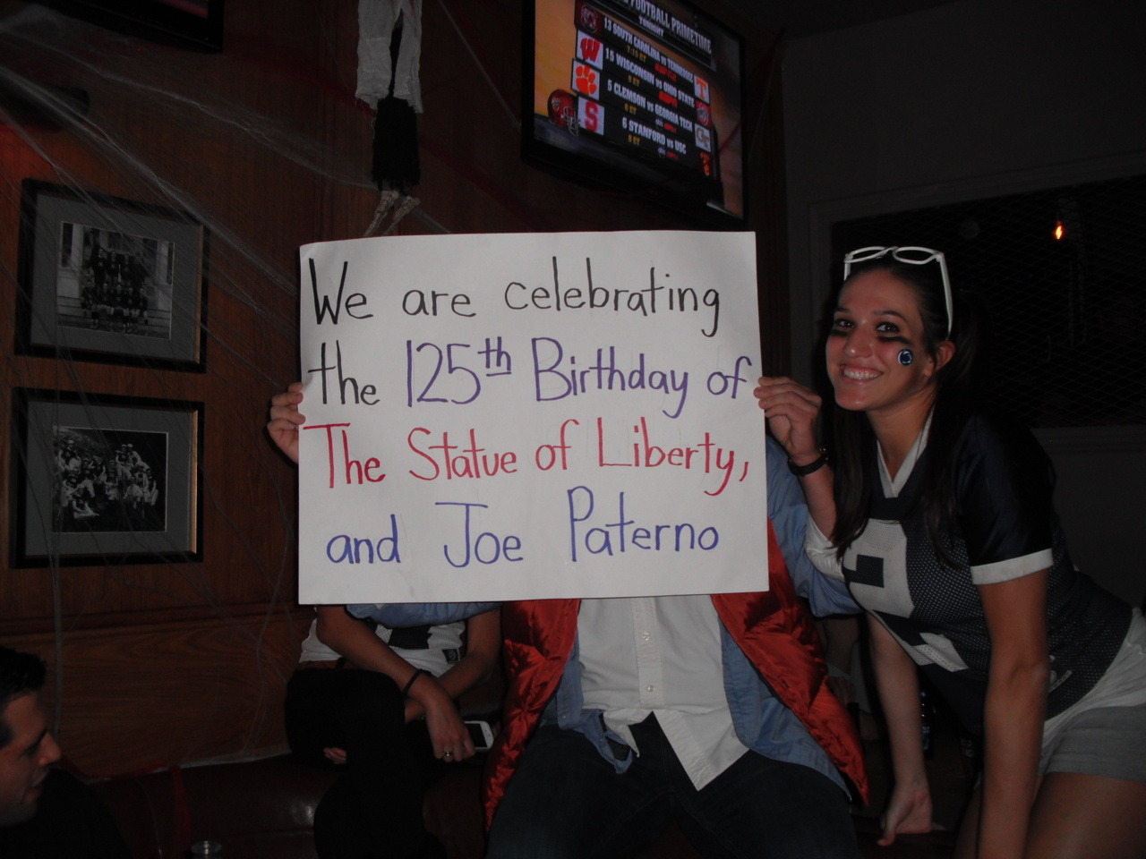 We are celebrating the 125th Birthday of The Statue of Liberty, and Joe Paterno