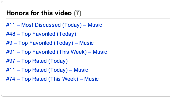 "Check out the YouTube honors for ""And We Danced"" today!!!  THANK YOU!!!"