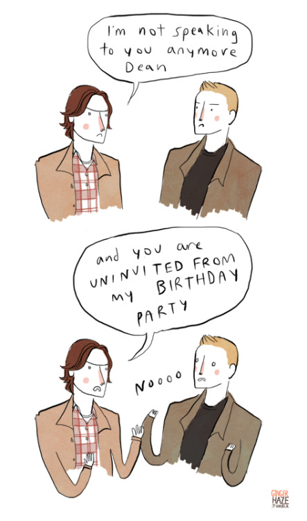 gingerhaze:  Supernatural is really funny guys