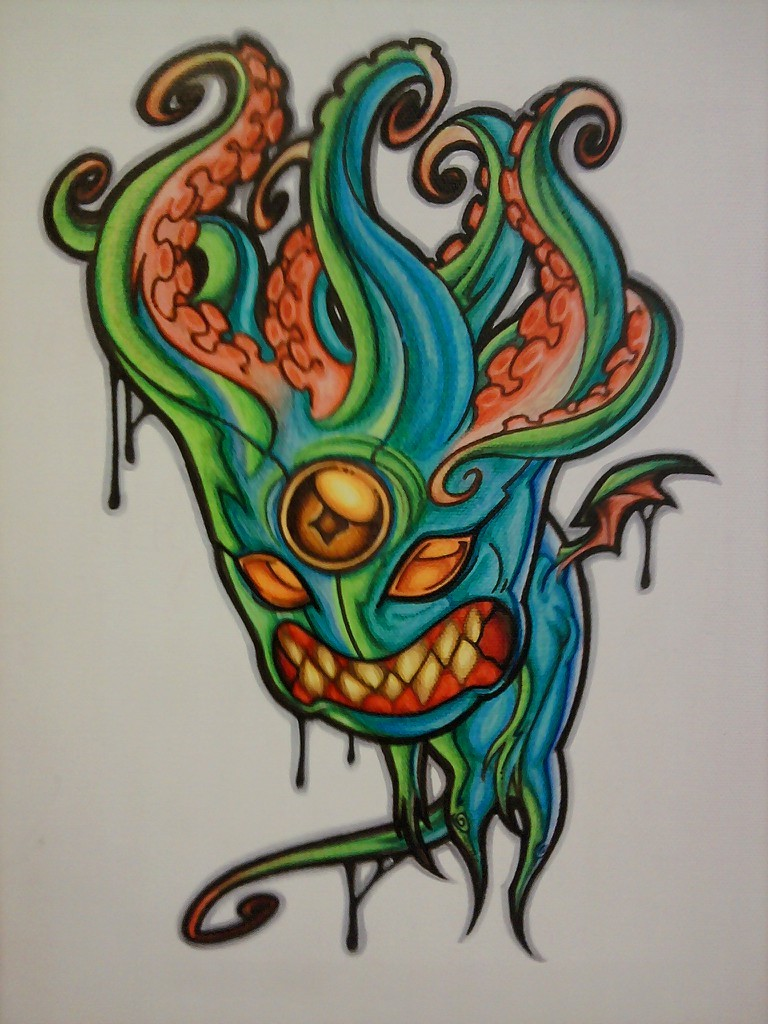SNEEK PEAK!  almost finished…prisma marker on canvas, Original will be for sale on my Etsy store Tomorrow!