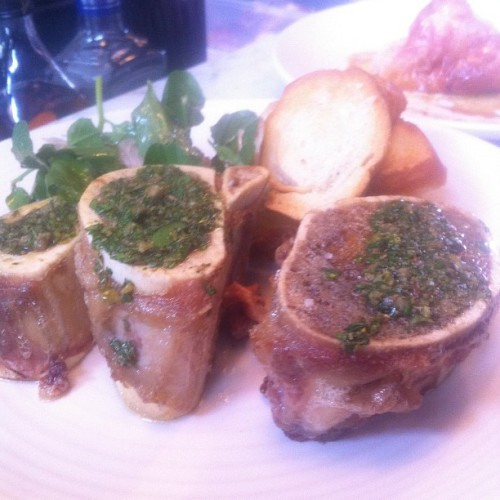 Bone marrow for lunch at the not quite open yet  Gosli and Jones. Everything cooked in the wood fired oven. (Taken with instagram)