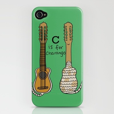 illustratedbyjenny:  (via C is for Charango iPhone Case by Illustrated by Jenny | Society6) FREE SHIPPING on ALL SOCIETY6 Orders through SUNDAY. WORLDWIDE!