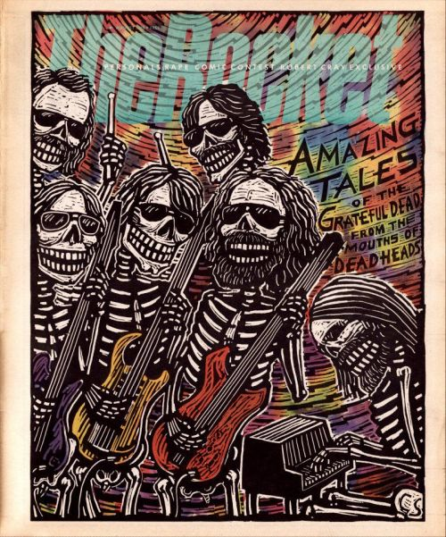 The Rocket, August 1988Grateful Dead illustration by Carl Smool, art director: Jesse Marinoff Reyes Source: Jesse Marinoff Reyes Design