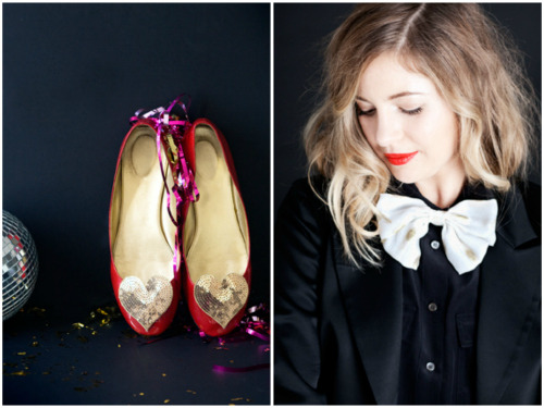 ban.do holiday style collection sequin shoe clips girlie chiffon bow