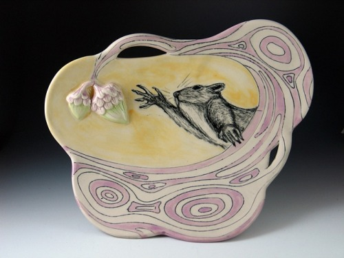 Purple Squirrel Plate (Reach Series) 2011 - Chandra DeBuse - Charlie Cummings Gallery