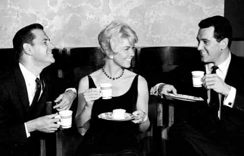 L to R: Tony Randall, Doris Day, and Rock Hudson