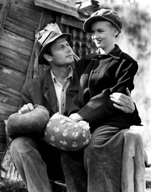 Joel McCrea and Veronica Lake in Sullivan's Travels (Preston Sturges, 1941)