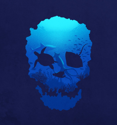 ianbrooks:  Oceans of Death by Ben Chen Up for voting at threadless.