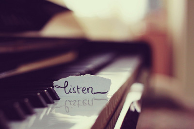 people should stop talking and take time to listen. You can learn from listening ♥