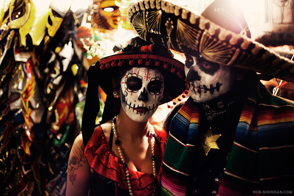 "Día De Los Muertos, in Memory of Lost Loved Ones by Susan Leem, associate producer Today is the final day of Día De Los Muertos, or Day of the Dead. Celebrated in Mexico and many other parts of the world, people gather together to remember and honor loved ones and ancestors who have died. The holiday is connected with the Roman Catholic holidays of All Saint's Day and All Soul's Day, as it occurs on November 1st and 2nd. The face-painting as skulls helps to overcome a fear of death as a natural part of the cycle of life. About the image: Here, a woman dressed as La Calavera Catrina (""The Elegant Skull"") celebrates at a Dia De Los Muertos Festival in Los Angeles. (photo: Rob Sheridan/Flickr, cc by-nc-sa 2.0)"