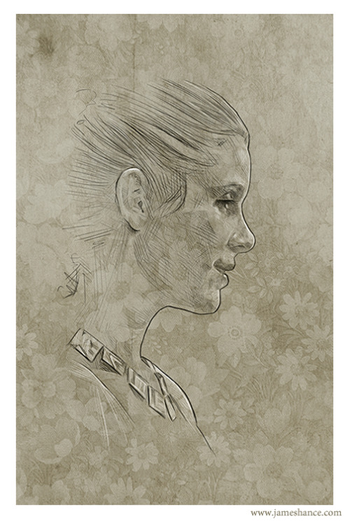 Latest Doodle: 'Leia' Prints available at http://www.jameshance.com and http://www.jameshance.co.uk later today - Thanks for the amazingly kind words and support as always :) x