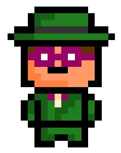 The Riddler, lexical mastermind and villain of Gotham City.  Suprisingly for a grade - A neurotic narcissist, he doesn't actually partake in many violent crimes.