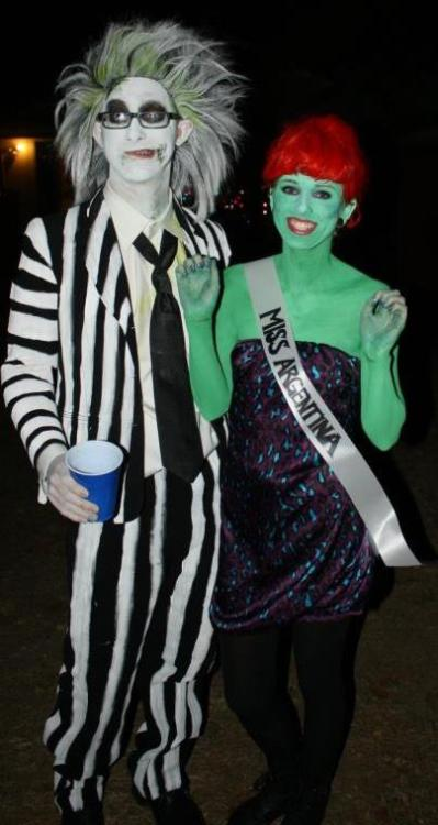 My boyfriend and I as Beetlejuice and Miss Argentina(dead receptionist in the movie). Had so much fun!
