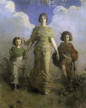A Virgin 1892-1893  Abbott Handerson Thayer jerzee55: