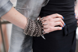 tallgirltales:  Coco Rocha wearing a bracelet from her collaboration with Senhoa.