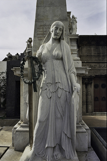 Analog Recoleta: Goddess of War. #BuenosAires #Argentina #Travel