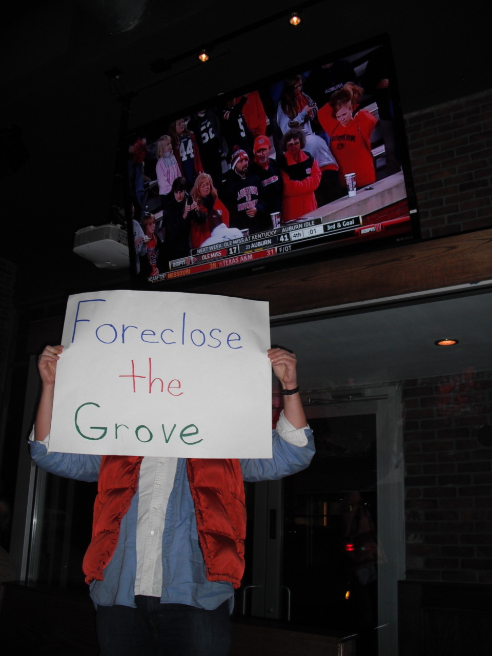 Foreclose the Grove