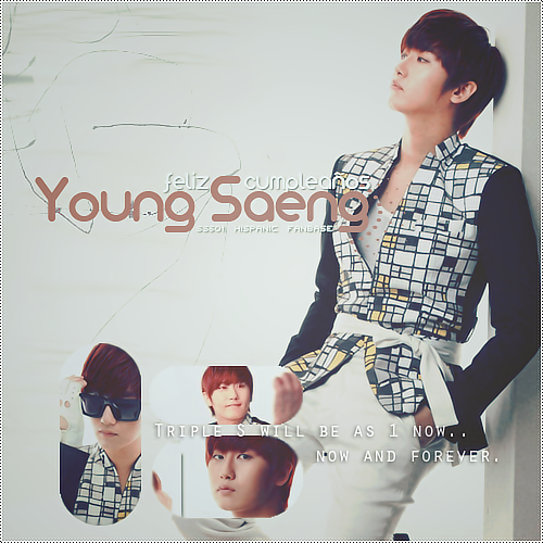 #501HYSday ♥ ♥ ♥ Happy birthday Heo Young Saeng ♥ ♥ ♥ Have a nice day our shy prince… our otter ♥ ♥ ♥  picture by: me :3 for SS501 Hispanic Fanbase ♥
